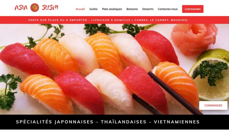 création site sushis