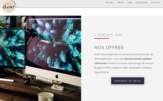 creation site internet agence aim | Alexandre Fuchs